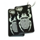 swiss bug (travel tag), black, double set