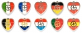my geoheart geocoins | nickel | set of 10 (countries)