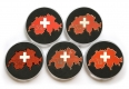 love switzerland geocoins | 5er-set (mit 2 * xle 30)