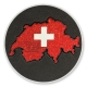 love switzerland geocoin | schwarzer nickel